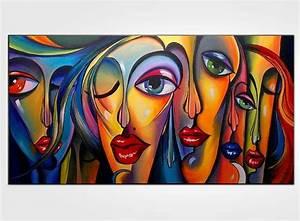 Peinture Visage Femme : tableau peinture rectangulaire ~ Melissatoandfro.com Idées de Décoration