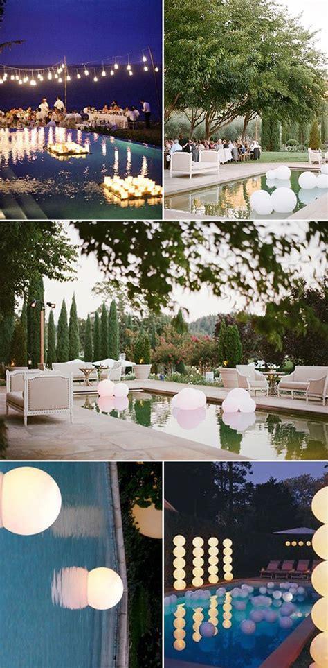 wedding receptions string lights and lanterns on