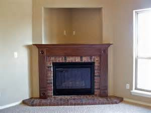 Corner Mantel for Brick Fireplace Ideas