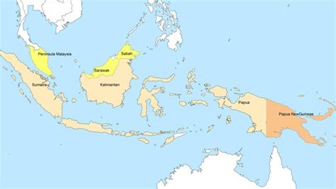 map   study area including indonesia malaysia