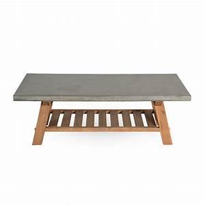 Table Basse En Beton : table basse stone en b ton koya design ~ Farleysfitness.com Idées de Décoration