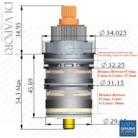 vernet tmv2 thermostatic shower cartridge replacement cawh08 05 thermostat valve 5060387444137