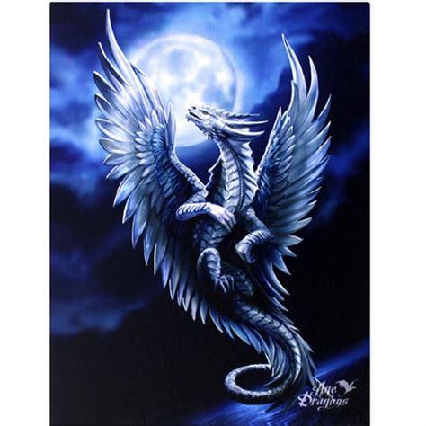 Images Of Dragons Silver Canvas Picture Stokes Print Age Of