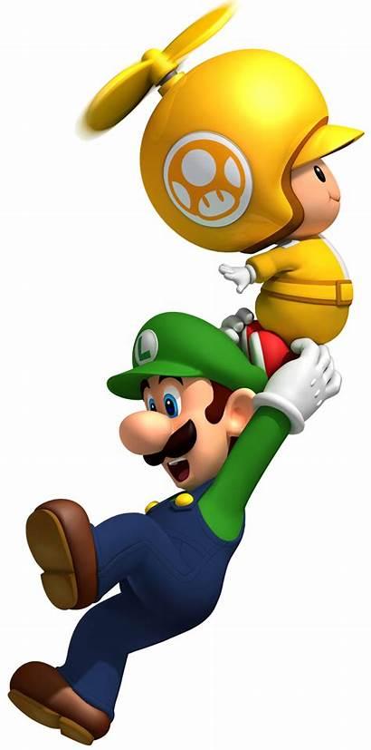Mario Super Propeller Luigi Bros Toad Wii