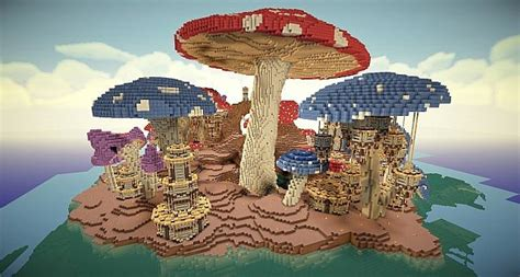 pollux mushroom world build minecraft building