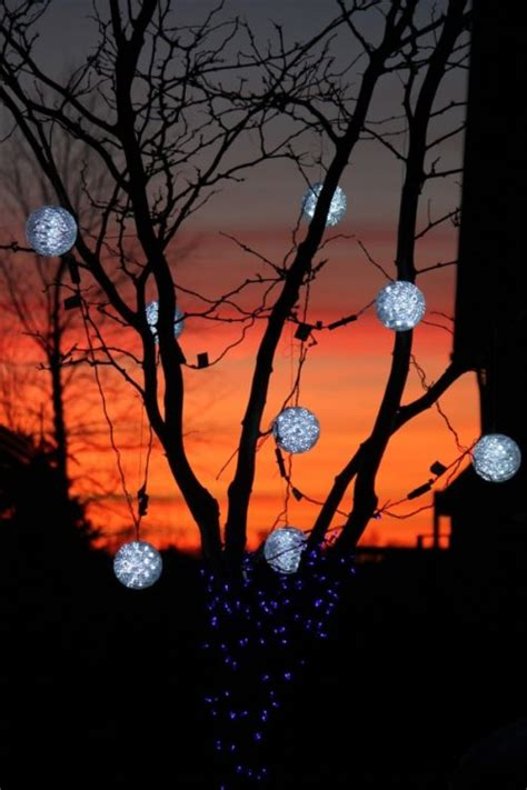 christmas light spheres outdoor  festive ways