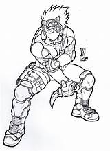 Splinter Coloring Pages Kakashi Template sketch template