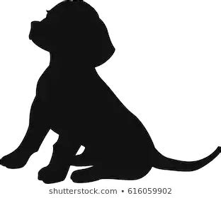 beagle silhouette stock images cute dog drawing