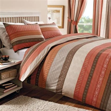 terracotta mizar collection duvet cover set dunelm