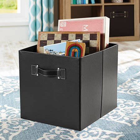 better homes and gardens 12 8 quot w x 12 8 quot d x 15 quot h collapsible fabric cube storage bin set of 2