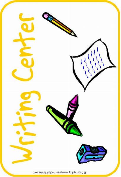 Center Preschool Clipart Writing Clip Centers Signs