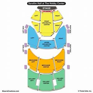 Hobby Center Seating Chart
