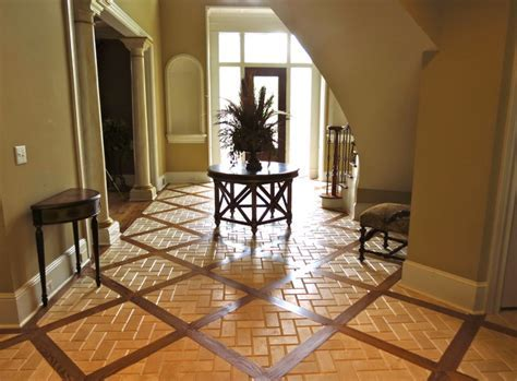Mixed Media Herringbone Floor   Traditional   Entry