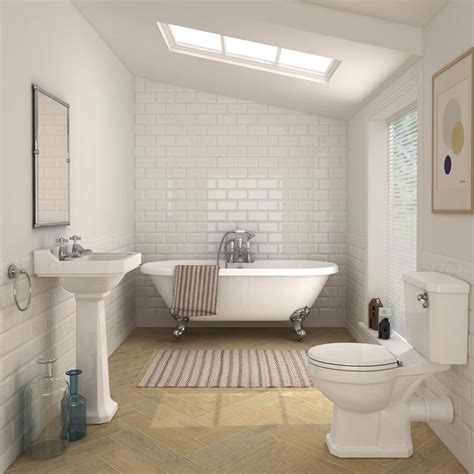 carlton traditional double ended roll top bathroom suite