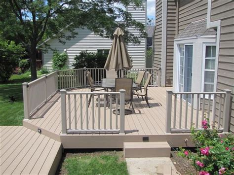 sandridge timbertech xlm decking with clay certainteed