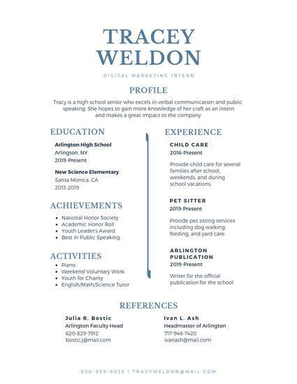 customize  high school resume templates  canva