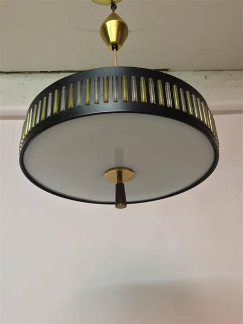 globe flying saucer pendant light fixture for sale at 1stdibs