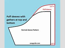 3 types of {Puff sleeves} and How to sew them Sew Guide