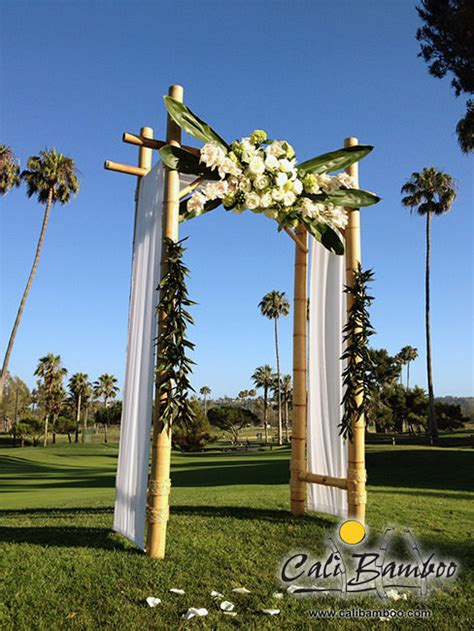 bamboo wedding arches  match  style