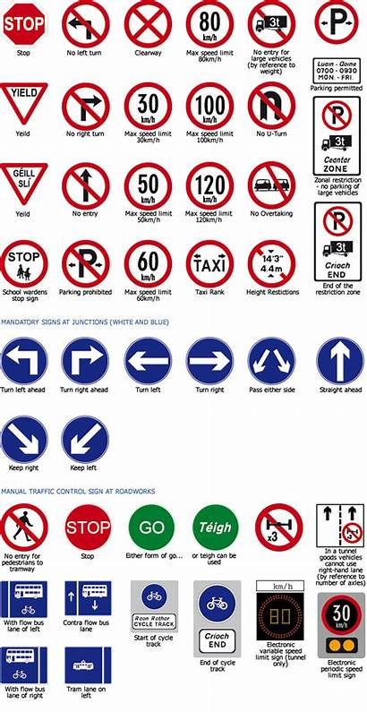 Signs Driving Test Road Theory Traffic Drivers