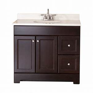 Shop style selections clementon cocoa integral single sink for 36 x 19 bathroom vanity