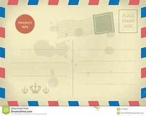 Vintage blank postcard template | Templates | Pinterest ...