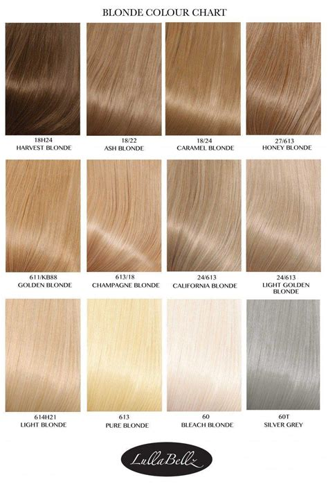 Blond Shade by Colour Chart Lullabellz