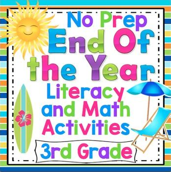 end of the year activities 3rd grade math and ela by math