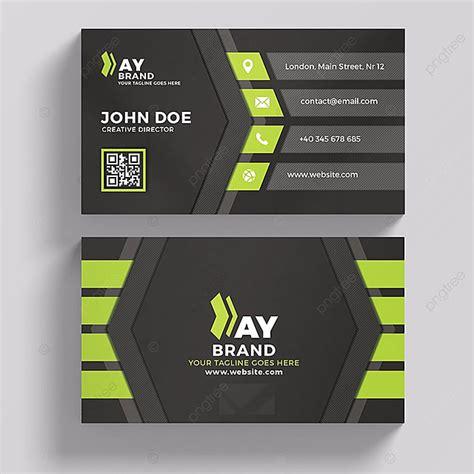 modern green  black business card template