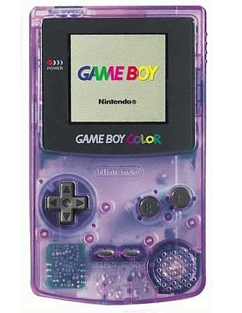 atomic purple gameboy color boy color atomic purple nintendo handheld system