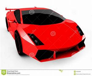 Red Sports Car On White Background Stock Illustration ...