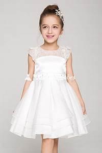 robe de soiree fillette pour mariage en satin et organza With robe mariage fillette