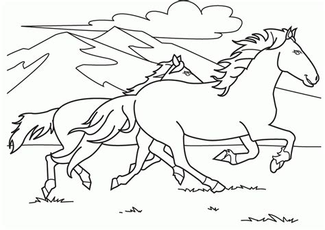 horse coloring pages coloring home