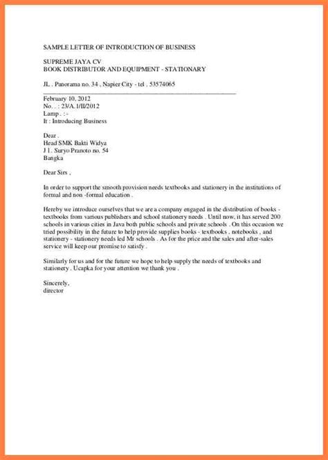 company introduction letter 7 introduction letter of a new company company letterhead 20926
