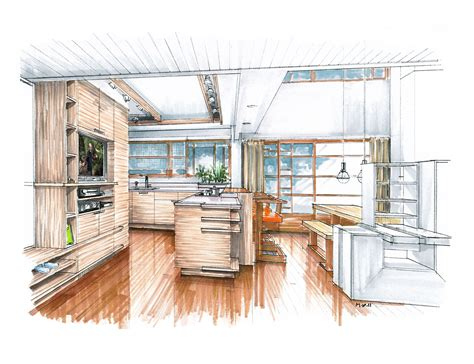 kitchen proposal  schindlers lovell beach house