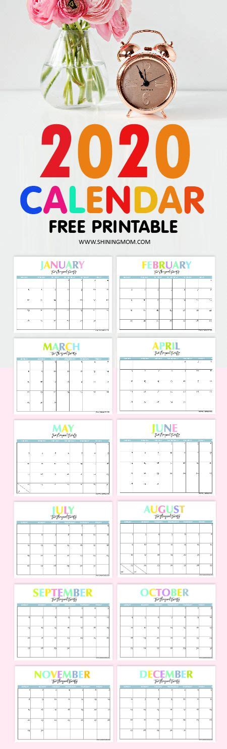 printable calendar beautiful colorful planners