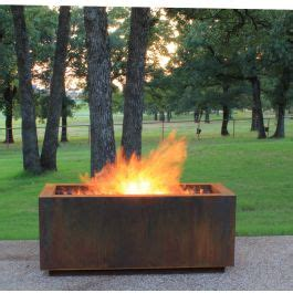 Pit Gas Ring by Linear Wood Burning Pit With A Gas Ring
