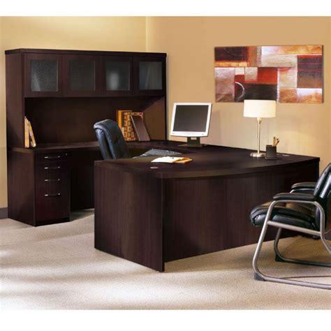 u shaped executive desk with hutch black executive desk home office furniture for elegance