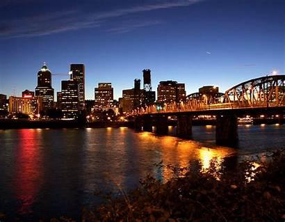 Portland Oregon Potland Weedist Desktop Night Skyline
