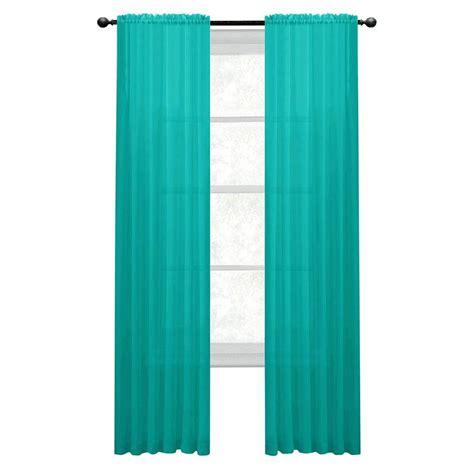 window elements sheer turquoise rod pocket