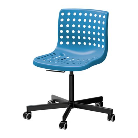 sk 197 lberg sporren swivel chair blue black ikea