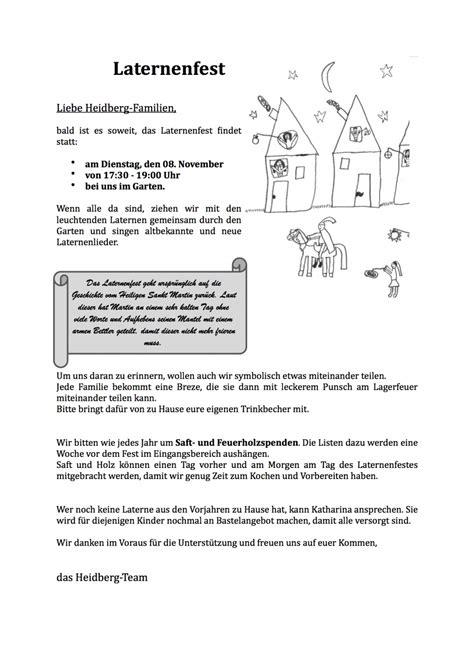 einladung zum laternenfest kita heidberg