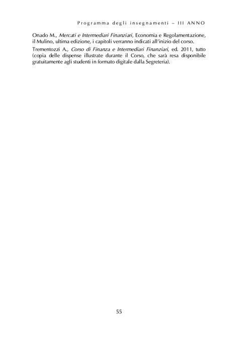 Economia Degli Intermediari Finanziari Dispense by Ordine Degli Studi Dell Ambito Di Economia Universita