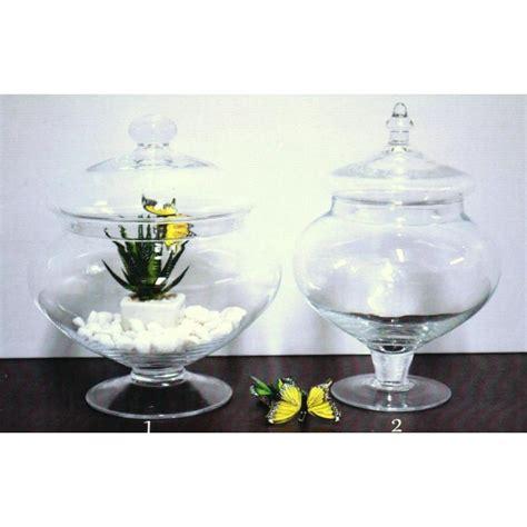 vasi in vetro con coperchio potiche in vetro con coperchio h 26 dmax 22 1