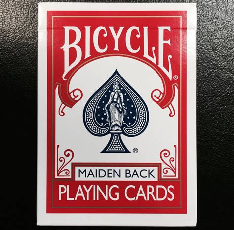 Bicycle Maiden Back Playing Cards Red