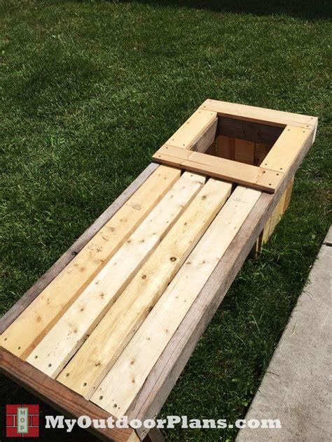 diy planter bench myoutdoorplans  woodworking