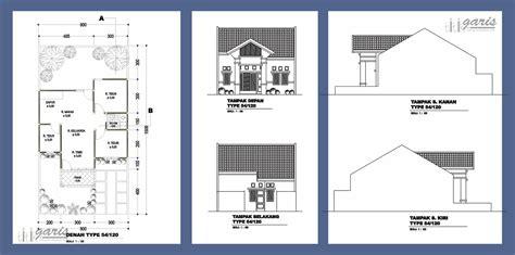 kumpulan gambar denah  tampak berbagai macam tipe rumah