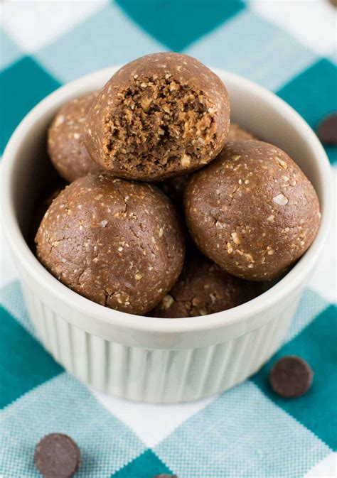 Chocolate Peanut Butter Protein Balls Recipe Build Your Bite