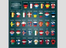 Europe National Flags Vector Pack Stock Vector Colourbox