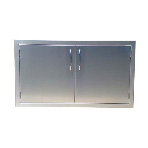 capital precision series outdoor kitchen   stainless steel double access storage doors